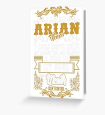 Arian Woman Heart Sleeve Fire Soul Zodiac Tshirt Greeting Card