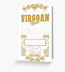 Virgoan Woman Heart Sleeve Fire Soul Zodiac Tshirt Greeting Card