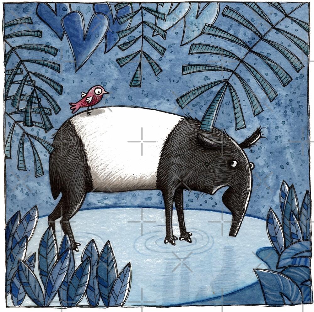 Welcome To The Jungle - Tapir - Schabrackentapir by JunieMond