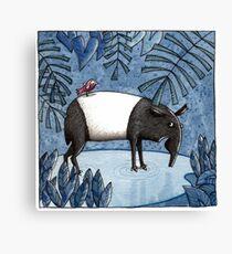Welcome To The Jungle - Tapir - Schabrackentapir Canvas Print