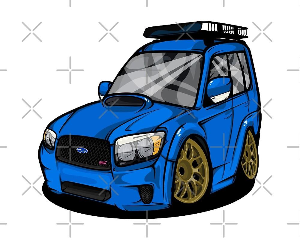 Subaru Forester SG9 STI by SprayPatrick