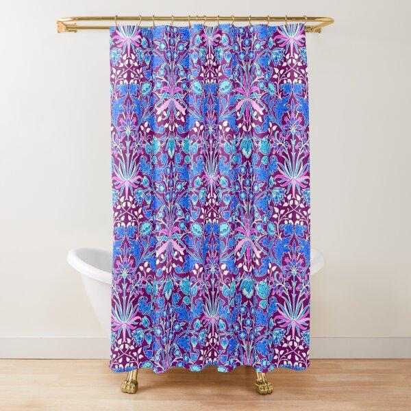 William Morris Hyacinth, Aqua and Purple  Shower Curtain