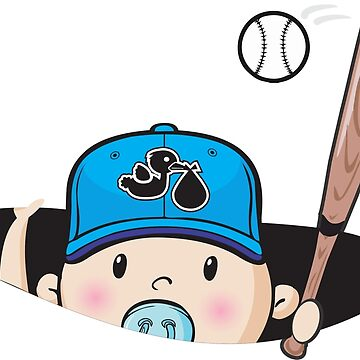 baby baseball player by renatinh0