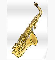 Póster Saxofón