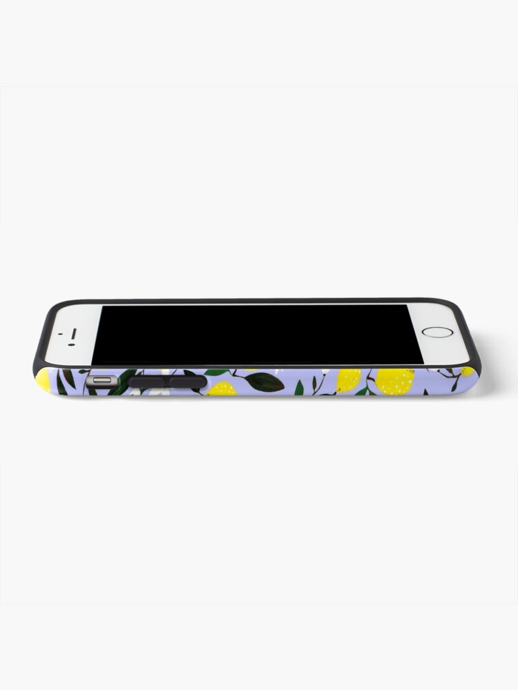 Alternate view of Lemons Blue iPhone Case & Cover