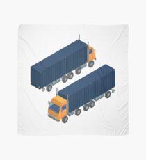 Cargo Transportation. Isometric Truck. Isometric Transportation. Cargo Trailer. Delivery Truck. Logistics Transportation. Mode of Transportation. Cargo Truck.  Scarf