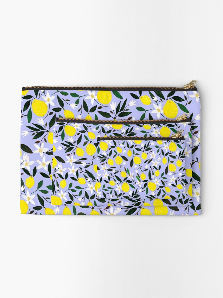 Alternate view of Lemons Blue Zipper Pouch