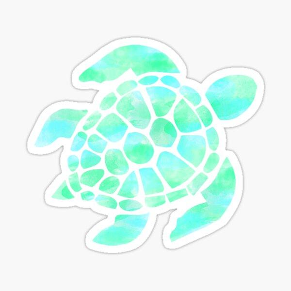 Sea Turtle Seafoam/mint Watercolor Sticker