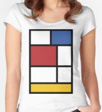 Mondrian #3 Women's Fitted Scoop T-Shirt