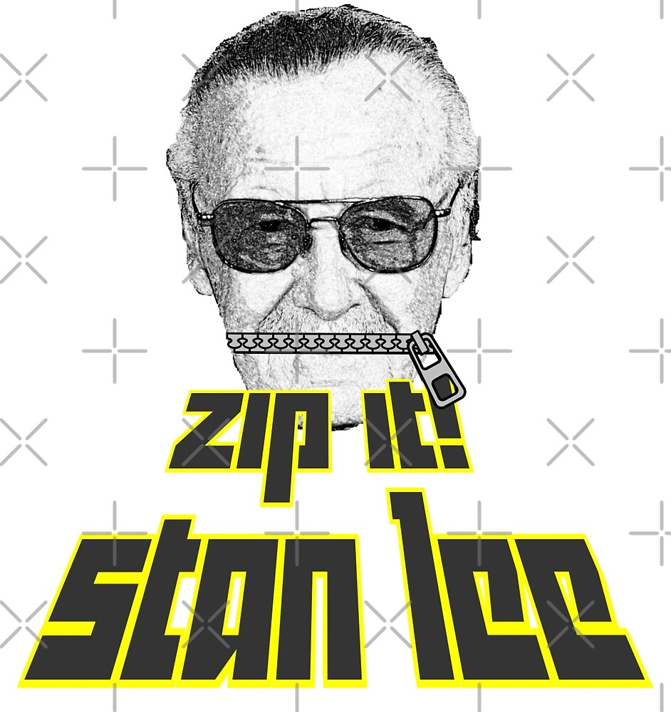 Zip It Stan Lee by loganferret