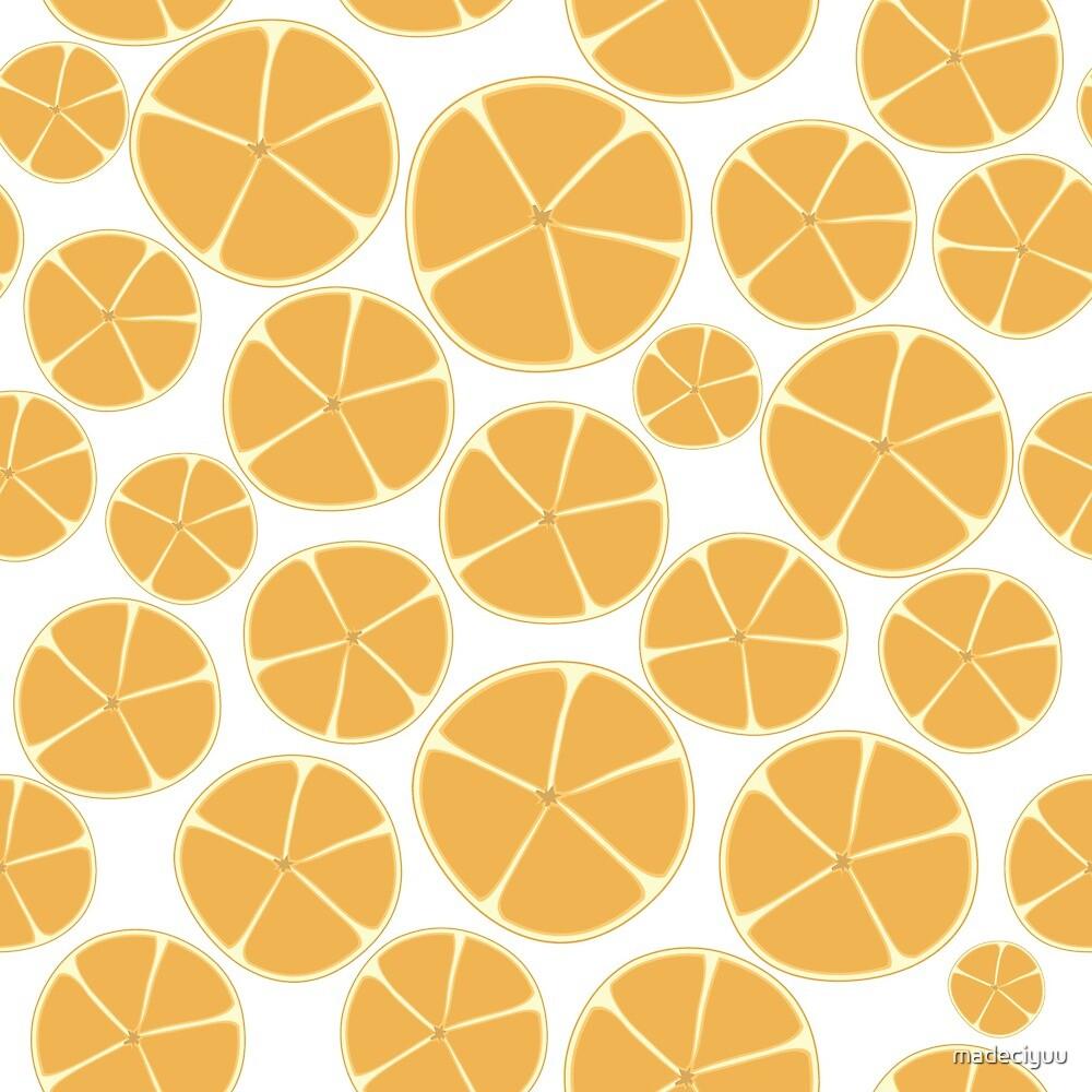 Orange Pattern by madeciyuu