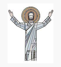 Touchdown Jesus  Photographic Print