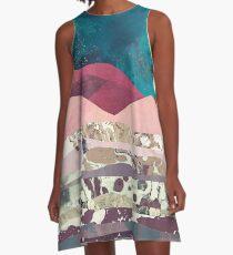 Magenta Mountain A-Line Dress