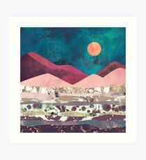 Magenta Mountain Art Print