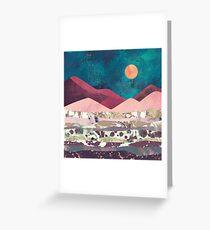 Magenta Mountain Greeting Card