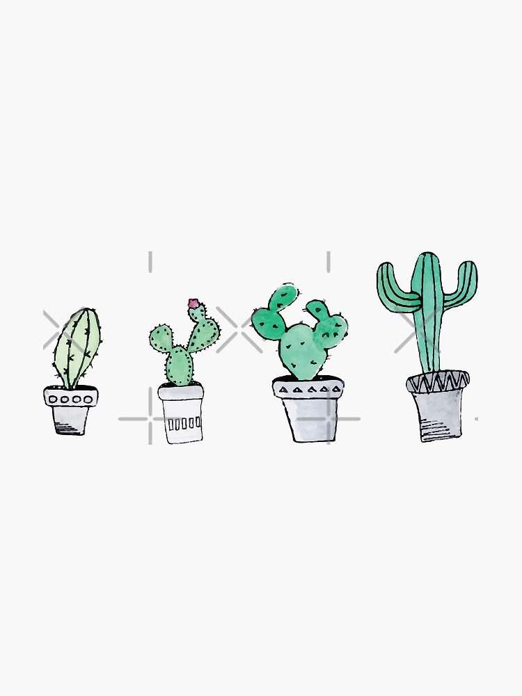 Cactus   Watercolor   Art   Pattern by Harpleydesign