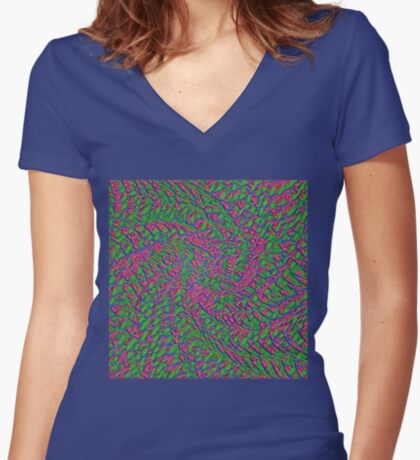 Untitled Flowers Fitted V-Neck T-Shirt