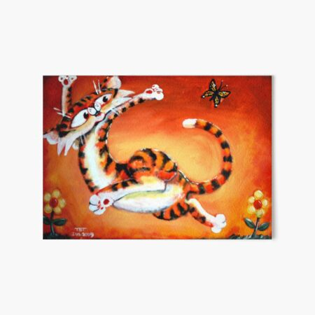 JAC Cat Butterfly Bys Art Board Print