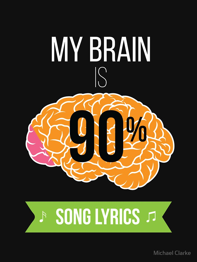 My Brain Is 90% Song Lyrics Cool Funny Melody Song  by Mikeyy109
