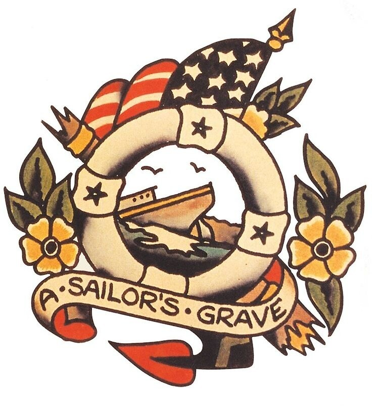 """Traditional """"Sailors Grave""""  by EwenDC5"""
