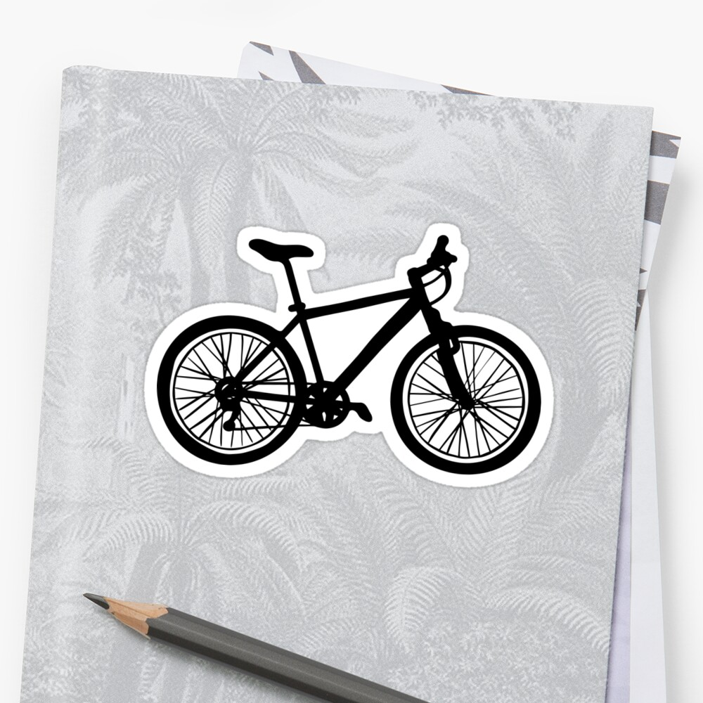 Simple hand drawn doodle of bicycle in black and white  by bigmoments