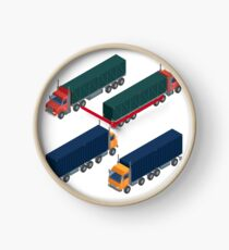 Cargo Transportation. Isometric Truck. Isometric Transportation. Cargo Trailer. Delivery Truck. Logistics Transportation. Mode of Transportation. Cargo Truck. Clock