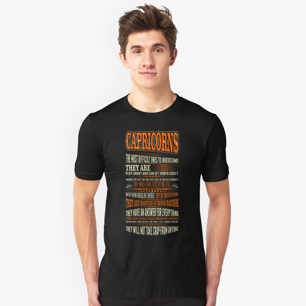Capricorns Difficult Ones To Understand Zodiac Tee Unisex T-Shirt Front