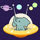 Astronaut elephant: Galaxy mission by EuGeniaArt