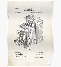 1887 Photographic Camera Patent Print Poster