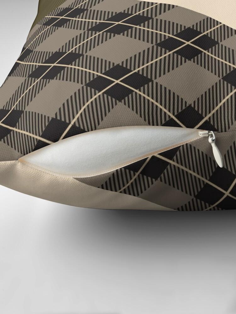 Alternate view of Kiltered 1 - Tartan and tweed cushion Throw Pillow