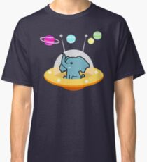 Pattern astronaut elephant: Galaxy mission Classic T-Shirt
