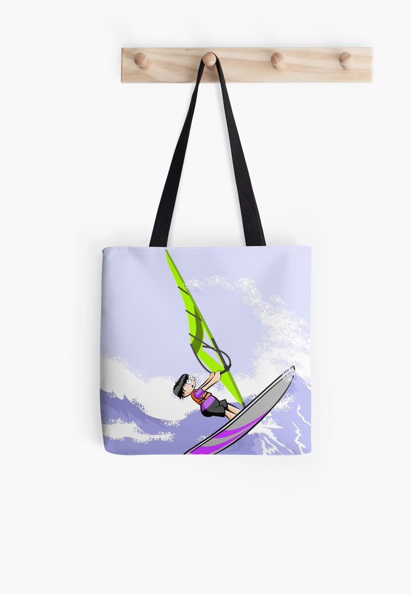 Windsurfing boy with strong winds by MegaSitioDesign