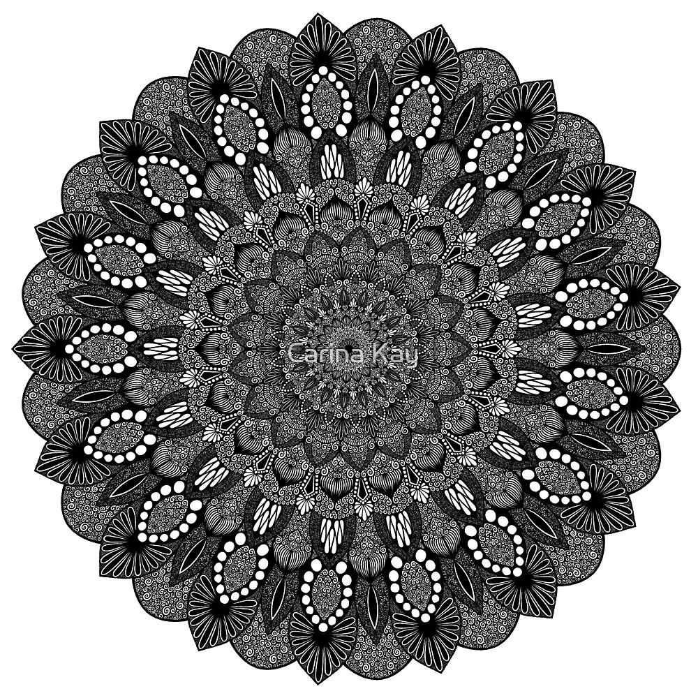 Black and White Mandala #23 by Carina Kay
