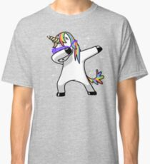 Dabbing Unicorn Shirt Dab Hip Hop Funny Magic Classic T-Shirt
