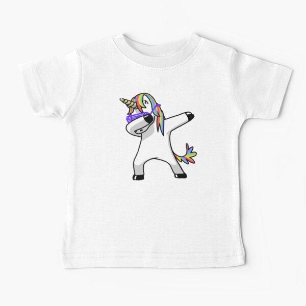 Dabbing Unicorn Shirt Dab Hip Hop Funny Magic Baby T-Shirt