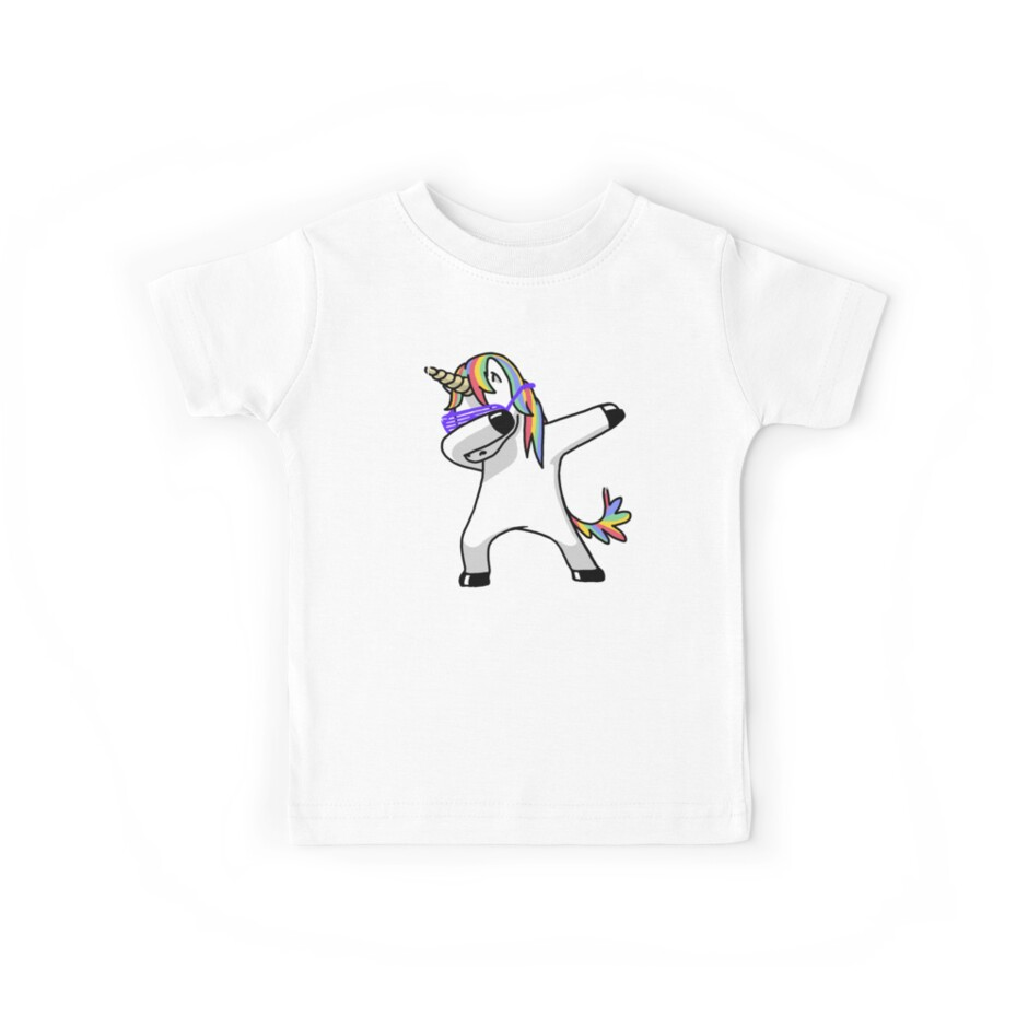 Dabbing Unicorn Shirt Dab Hip Hop Funny Magic by vomaria