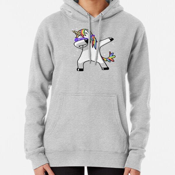 Mens Hooded Sweatshirt Magical Rainbow Unicorn and Star Pullover Fashion Hoodie Sweater