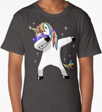 Dabbing Unicorn Shirt Dab Hip Hop Funny Magic Long T-Shirt