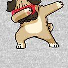 «Dabbing Pug Funny Shirt Hip Hop Dabbin» de vomaria