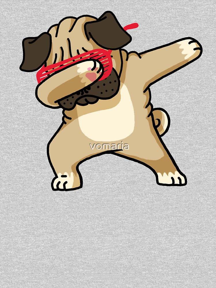 Dabbing Pug Funny Shirt Hip Hop Dabbin de vomaria