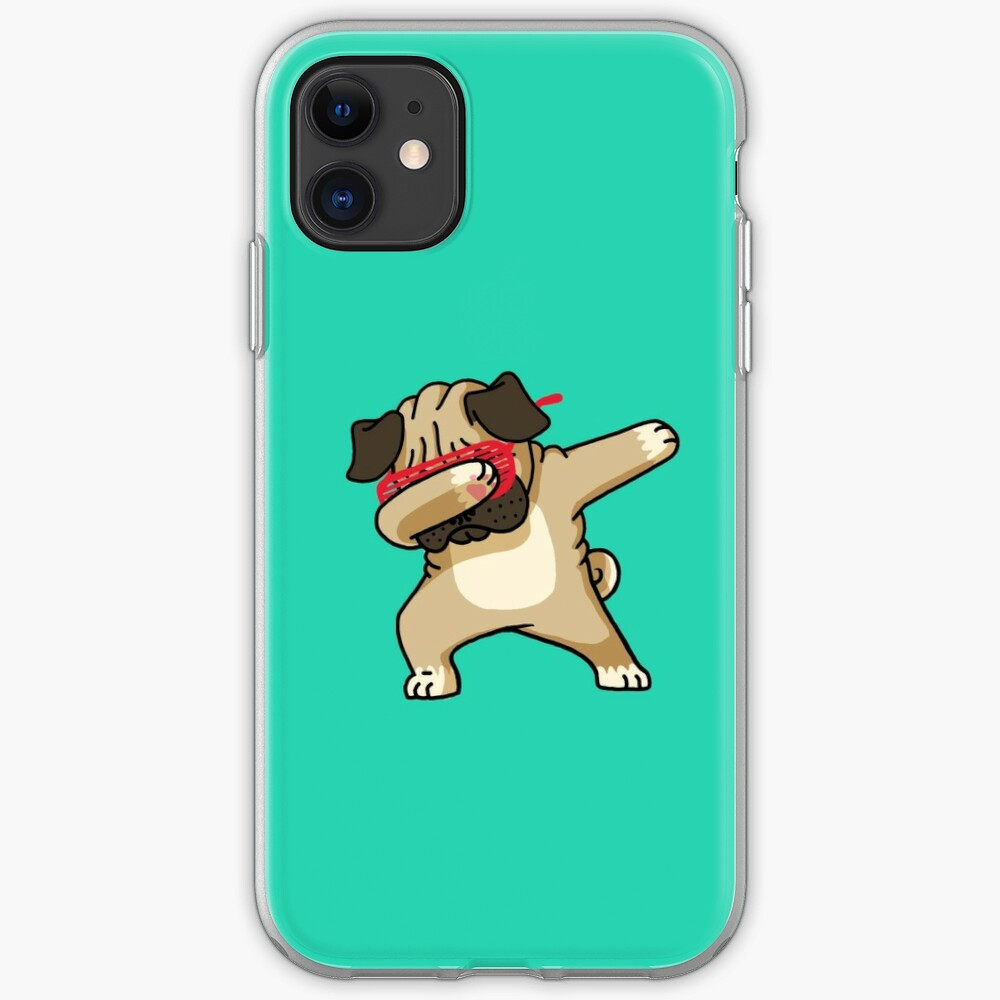 Dabbing Pug funny hip hop tshirt iPhone Case & Cover