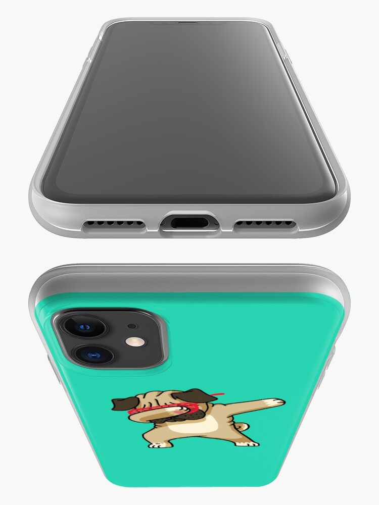 Alternate view of Dabbing Pug funny hip hop tshirt iPhone Case & Cover