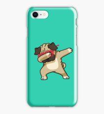 Dabbing Pug funny hip hop tshirt iPhone Case/Skin