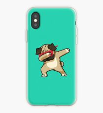 Dabbing Pug funny hip hop tshirt iPhone Case
