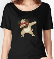 Dabbing Pug funny hip hop tshirt Women's Relaxed Fit T-Shirt