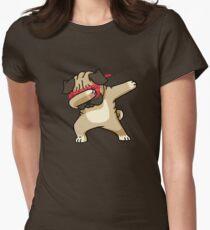 Dabbing Pug funny hip hop tshirt Women's Fitted T-Shirt