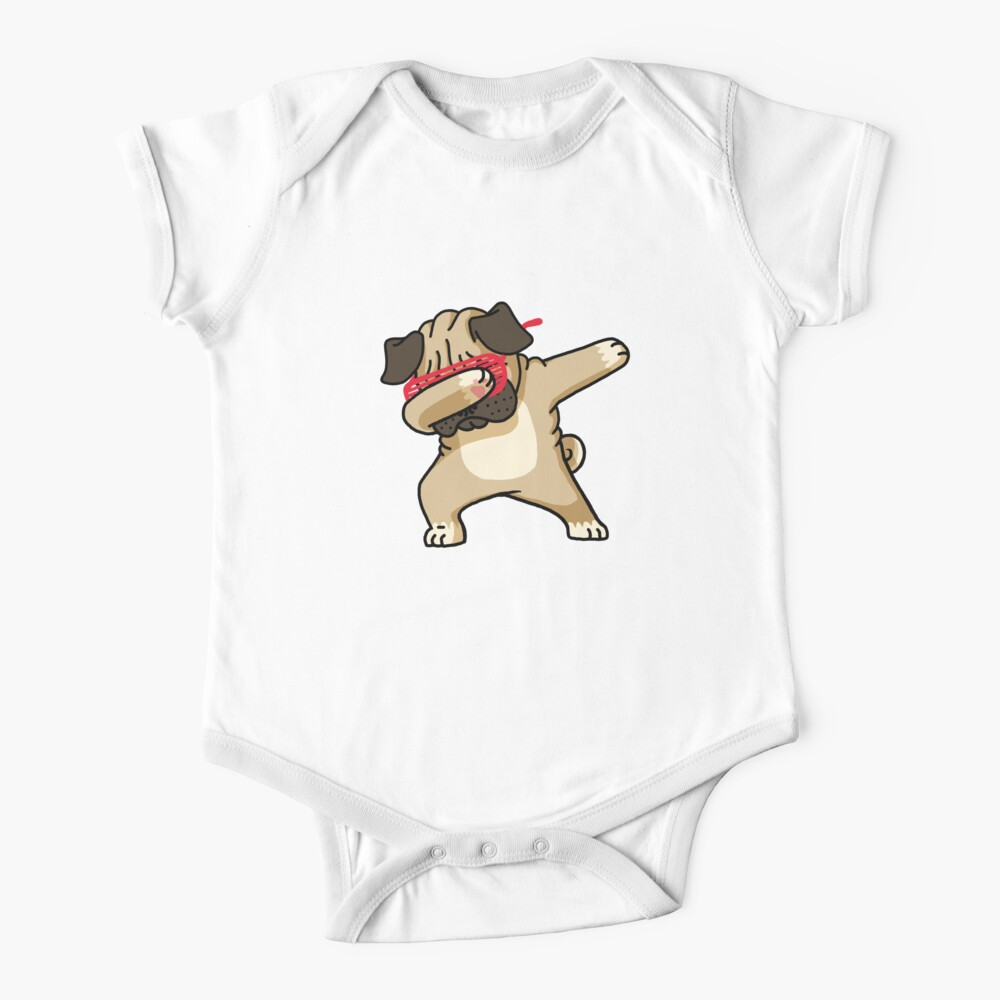 Dabbing Pug funny hip hop tshirt Baby One-Piece