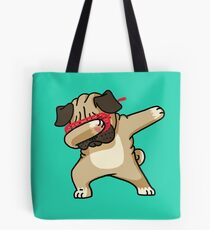 Tupfen-lustiges Hip-Hop-T-Shirt des Pug Tote Bag