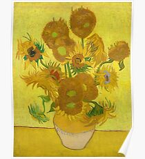 Van Gogh Yellow Sunflowers Poster