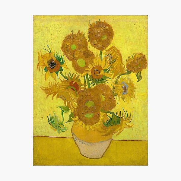 Van Gogh Yellow Sunflowers Photographic Print